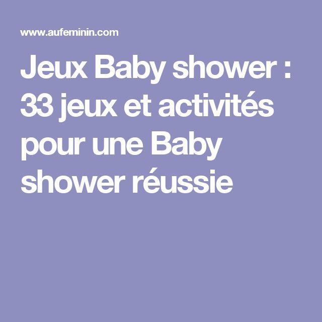 Les 25 meilleures id es de la cat gorie baby shower jeux - Idee pour baby shower ...
