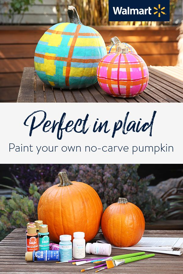 How To Paint Plaid Pumpkins Thanksgiving Crafts For Kids