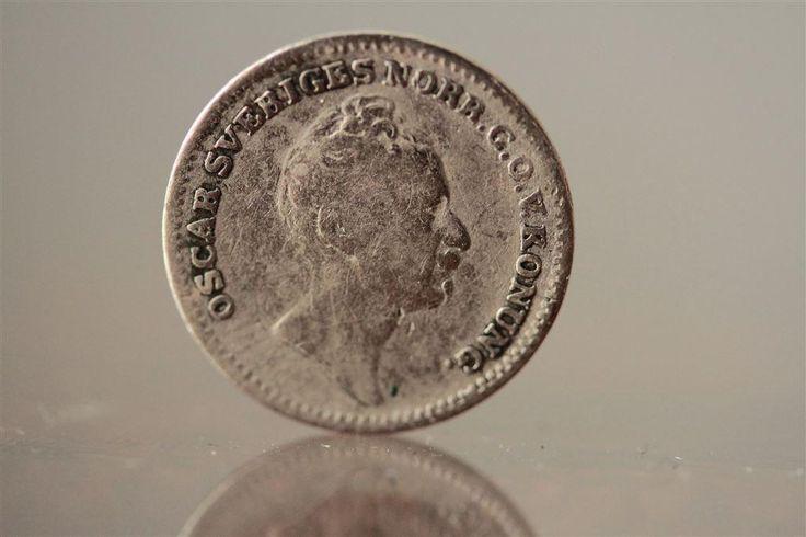 En sextondels riksdaler specie 1852 - Fint mynt i hyfsad god kvalité på