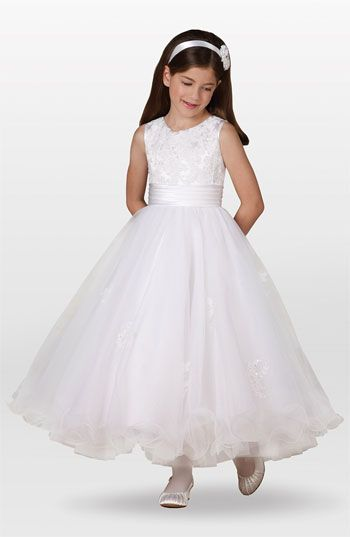 Joan Calabrese for Mon Cheri Lace Dress (Little Girls & Big Girls) available at #Nordstrom