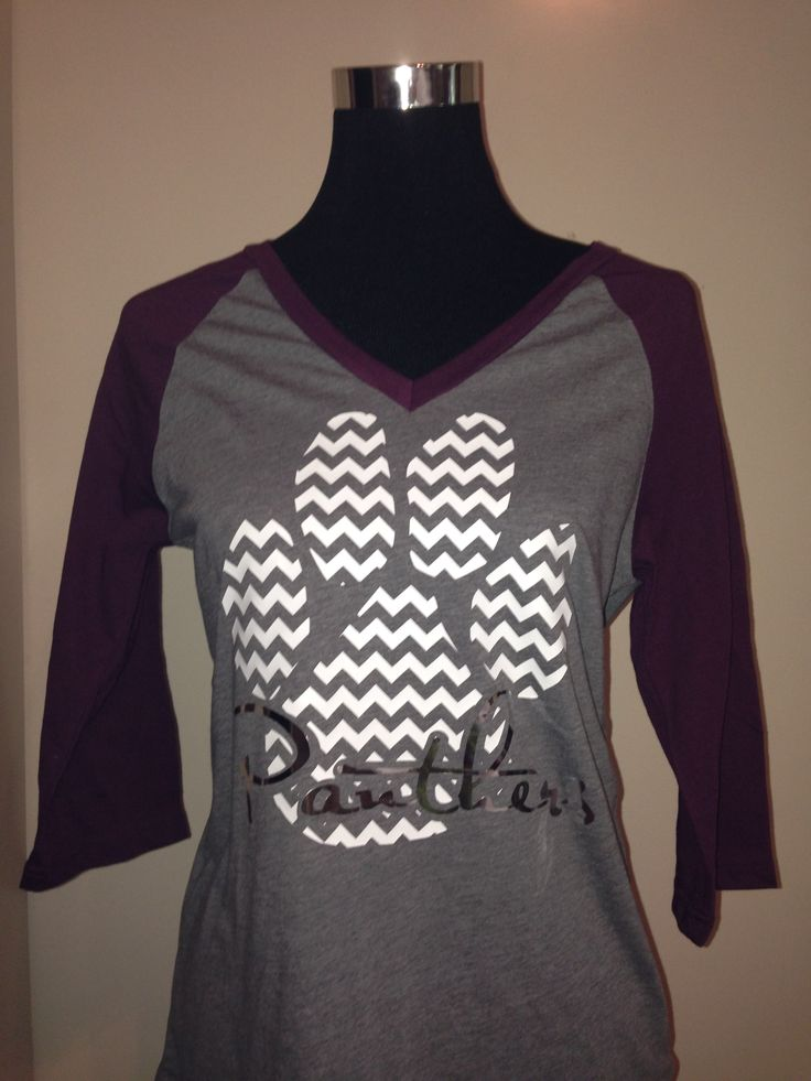 Chevron Panthers Paw raglan shirt