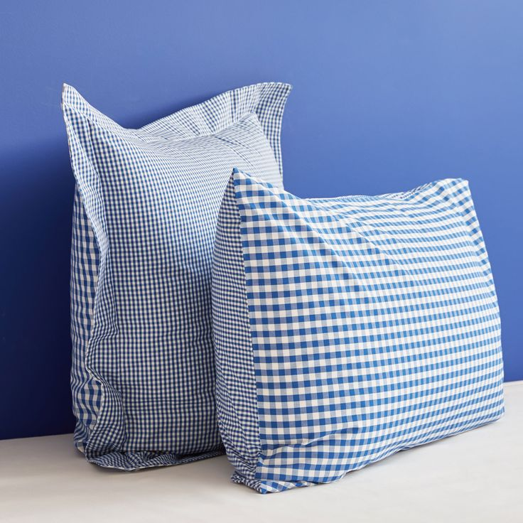 Image 4 of the product Reversible Gingham Percale Cotton Bed Linen