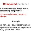 Simple, Compound, Complex and Compound-Complex Sentences PowerPoint: In this 17 slide PowerPoint presentation, students learn about the four types of sentences according to subject and verb. After the definitions and examples, students are asked to define seven slides of sentences as to whether they are simple, compound, complex or compound-complex sentences. An answer key slide at the end is for your reference. Great for reviewing or for first time learners! $