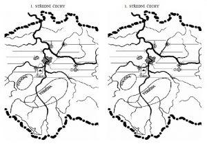 slepá mapka Je zde slepá mapka pro cvičné doplňování. Následuje test, kde žáci do mapky dopisují  údaje vyčtené z vlastivědné mapy ČR, vedle odpovídají na otázky. Nakonec jsou doplněny správné odpovědi.