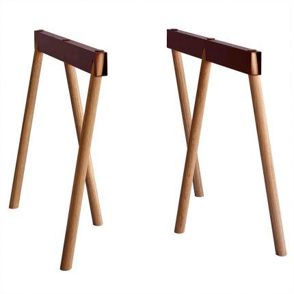 Crosscut Trestle Legs - Rust - $499