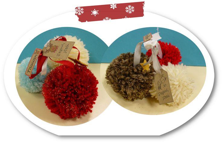 Bricolage de Noël- Pompons - Le blog des rusés ...