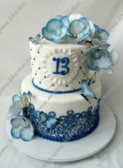 Торт для девочки на 13 лет