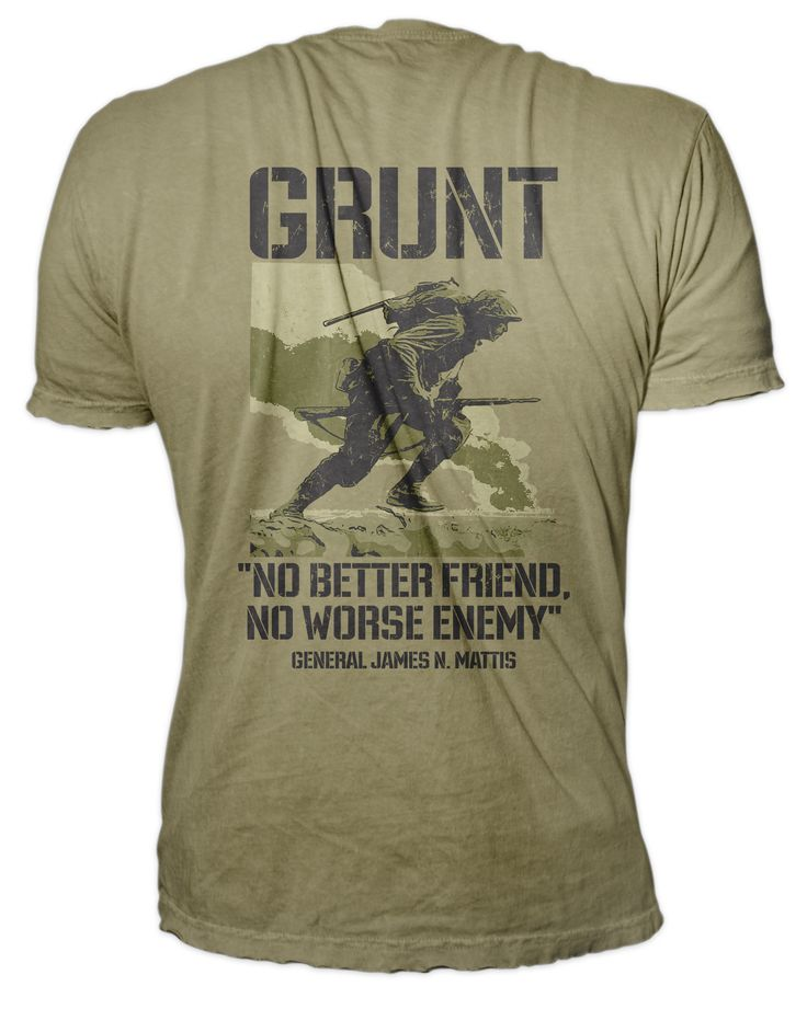 Custom USMC Grunt T-shirt. Represent with pride! In stock and ready to ship! High quality premium, pre-shrunk 100% combed and ring-spun soft cotton, 32 singles 4.3 ounce jersey knit t-shirt.