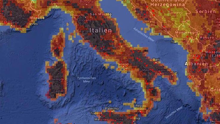 Das Hochdruckgebiet Luzifer hat eine neue Hitzewelle in Italien ausgelöst. Das Land, das unter großer Trockenheit und Waldbränden leidet, verdorrt gerade.