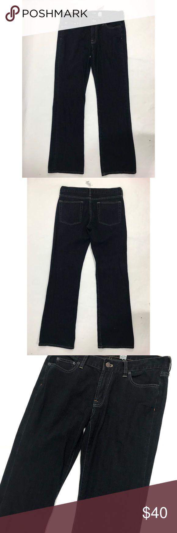 J Crew Jeans Size 30 Dark Blue Bootcut Hip Slung J Crew Womens Jeans Size 30 Dark Blue Denim Bootcut Hip Slung Stretch NEW. J. Crew Jeans Boot Cut