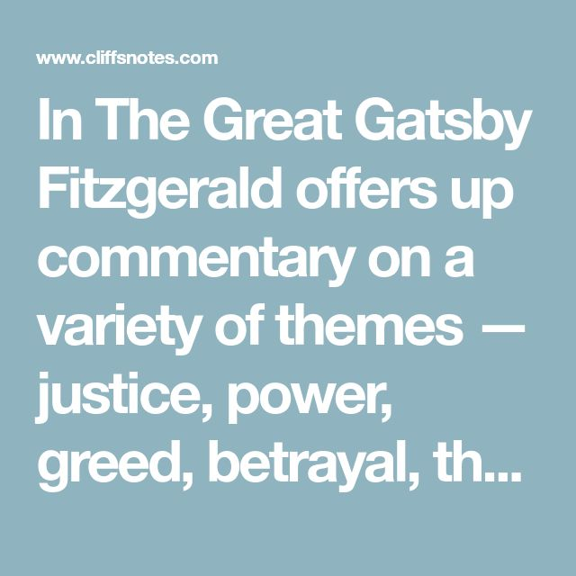 In The Great Gatsby Fitzgerald offers up commentary on a variety of themes — justice, power, greed, betrayal, the American dream, and so on. Of all the themes, perhaps none is more well developed than that of social stratification. The Great Gatsby is regarded as a brilliant piece of social commentary, offering a vivid peek into American life in the 1920s. Fitzgerald carefully sets up his novel into distinct groups but, in the end, each group has its own problems to contend with, leaving a…