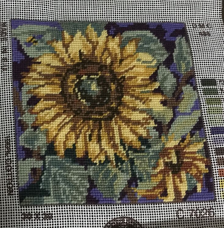 Completed sunflower tapestry