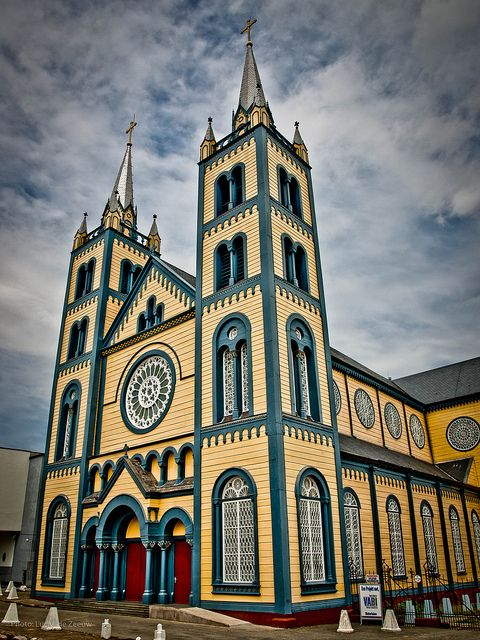St. Peter & Paul Cathedral in Paramaribo, Suriname. THE oldest wooden cathedral in South America!