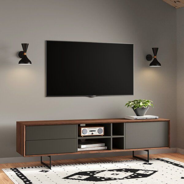 Hatten Tv Stand For Tvs Up To 78 In 2020 Living Room Tv Stand Modern Furniture Living Room Home Theater Room Design #two #tv #living #room