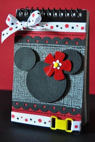 Bloco de notas, Caderno personalizado Minnie!! Linda oopção de Lembrancinhas #maedecora #scrapbook #scrapdecor #scrapfesta