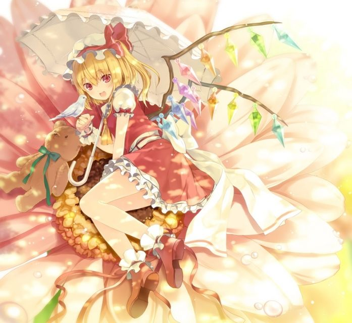 Here is quite the pretty flandre scarlet anime wallpaper.
