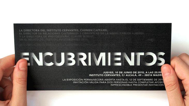 Lenticular invitation for PhotoEspaña exhibition