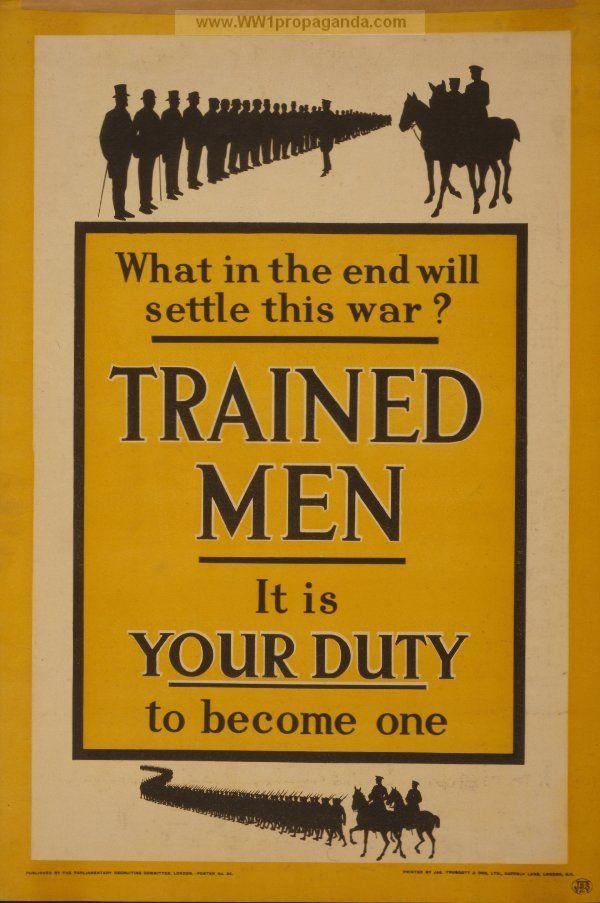 british propaganda wwi Find out the story behind the propaganda posters of ww1  when the british  entered the war on 4 august 1914 they had only a small.