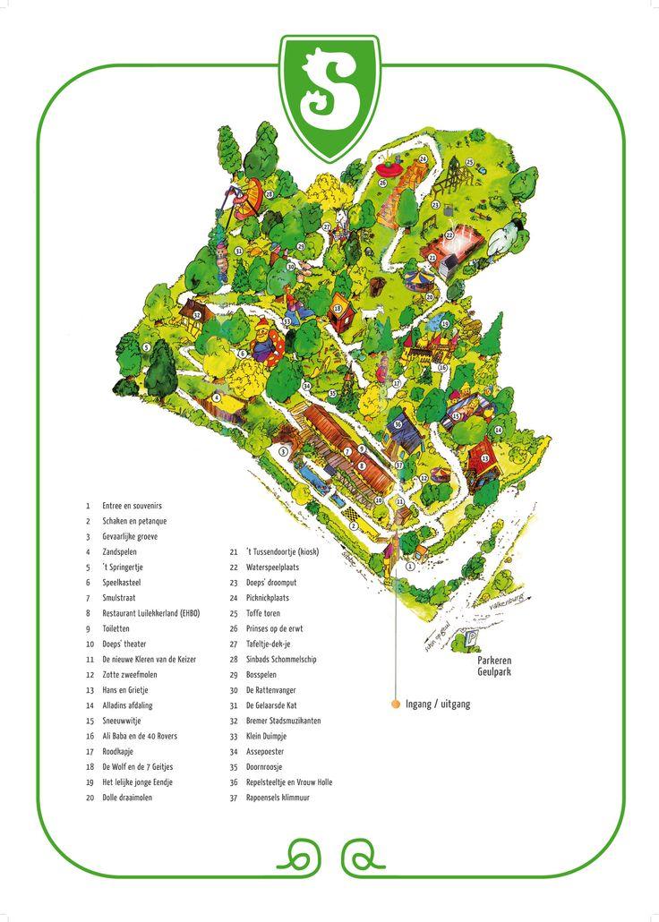 Plattegrond Sprookjesbos Valkenburg, Fairy Tale Park