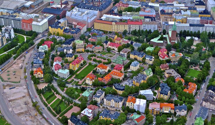 Aerial photo of Eira, Helsinki, Finland
