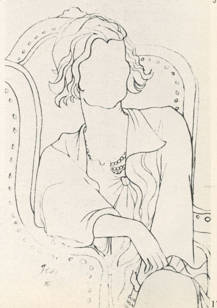 Jean Cocteau sketch of Chanel.  If anyone can find somewhere that sells reproductions please tell me. :)