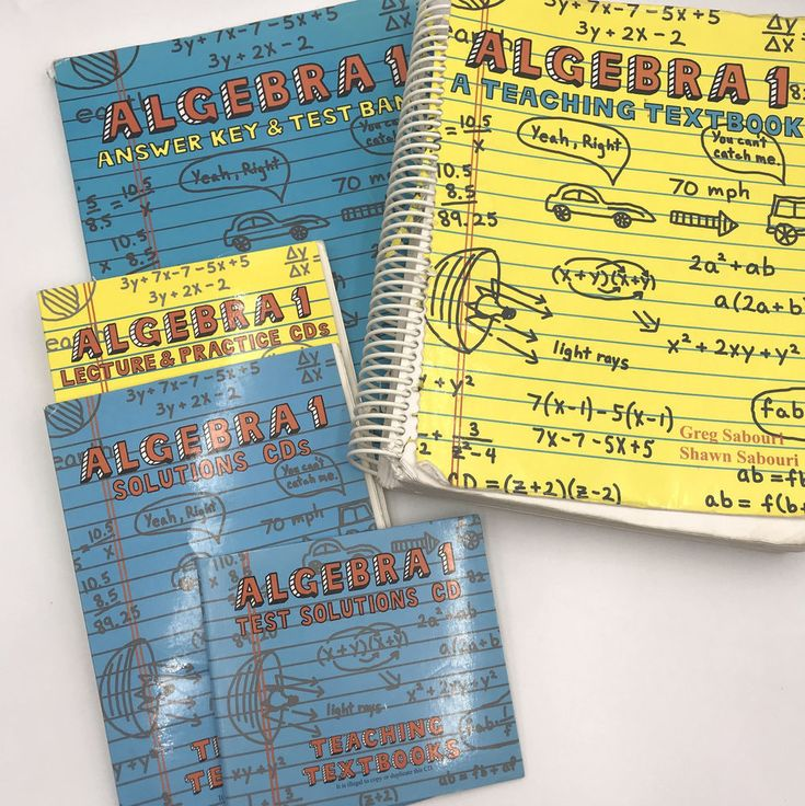 Algebra 1 Teaching Textbooks 1 0 Full Set Spiral Books And Cds Homeschool Textbook Teaching Textbooks Textbook Teaching