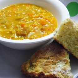 In the southern hemisphere right now it is cold, wet and miserable- the answer of course is soup-Bacon Hock Soup!