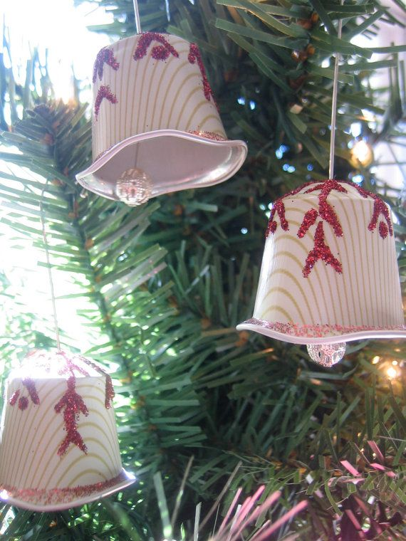 Snowflake Kissed Bell Ornaments - Nespresso