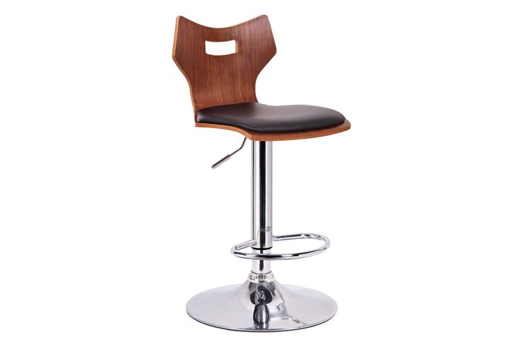 Amery Walnut Black Modern Bar Stool - Set of 2