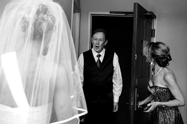 Adorable father/daughter wedding photo by Sierra Blanco via junebugweddings.com