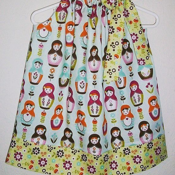 Little Matryoshka  #pillowcasedress #girlsdress #toddlerdress #matryoshka #rileyblakedesigns #boutiqueshopping #etsyshopowner