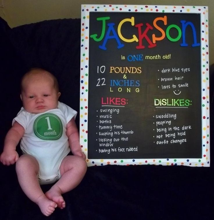 One month old Chalkboard