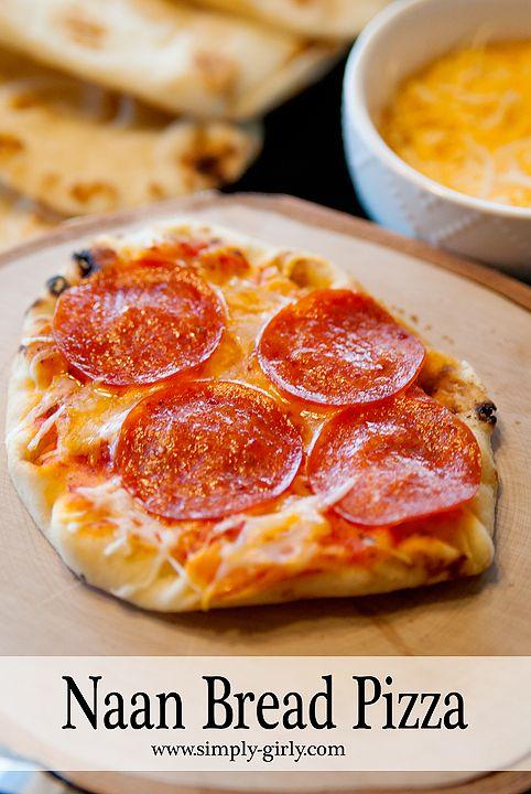 Naan Bread Pizza #naturallycheesy  #ad