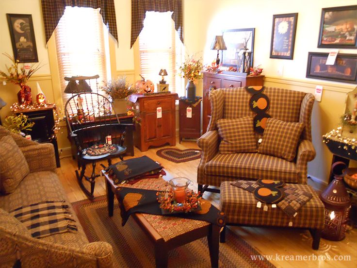 Kreamer brothers furniture country furniture annville for Images of country living rooms