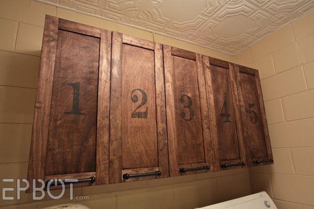 DIY Vintage Rustic Cabinet Doors - Details on how to build shaker cabinet doors