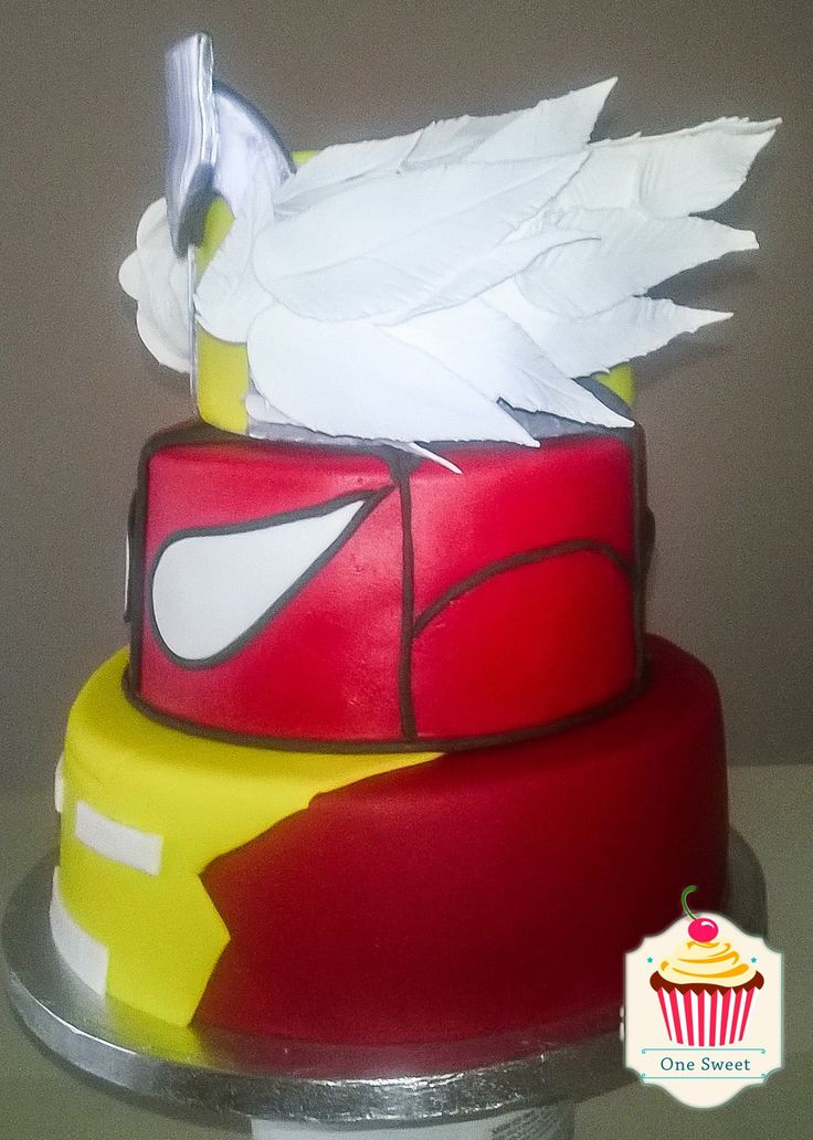 #tarta #superheroes #spiderman #ironman #thor #cake