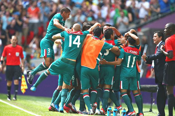 Mexico defeats Brazil 2-1 to win its first Olympic soccer medal and it's gold!