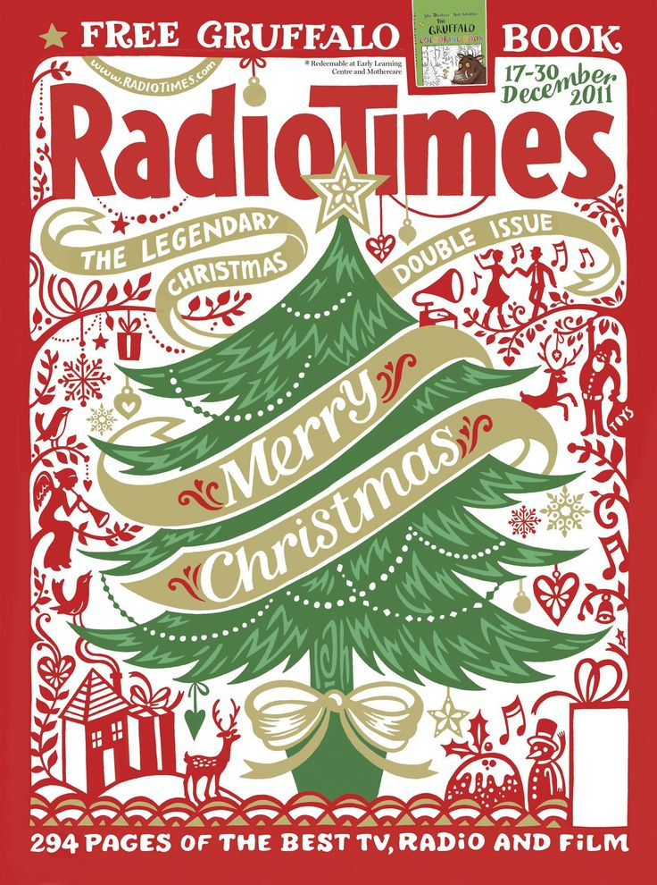 Door #24 - In 2001 he had a return to the eye-catching designs of Radio Times Covers of Christmases Past with this marvellous Christmas tree
