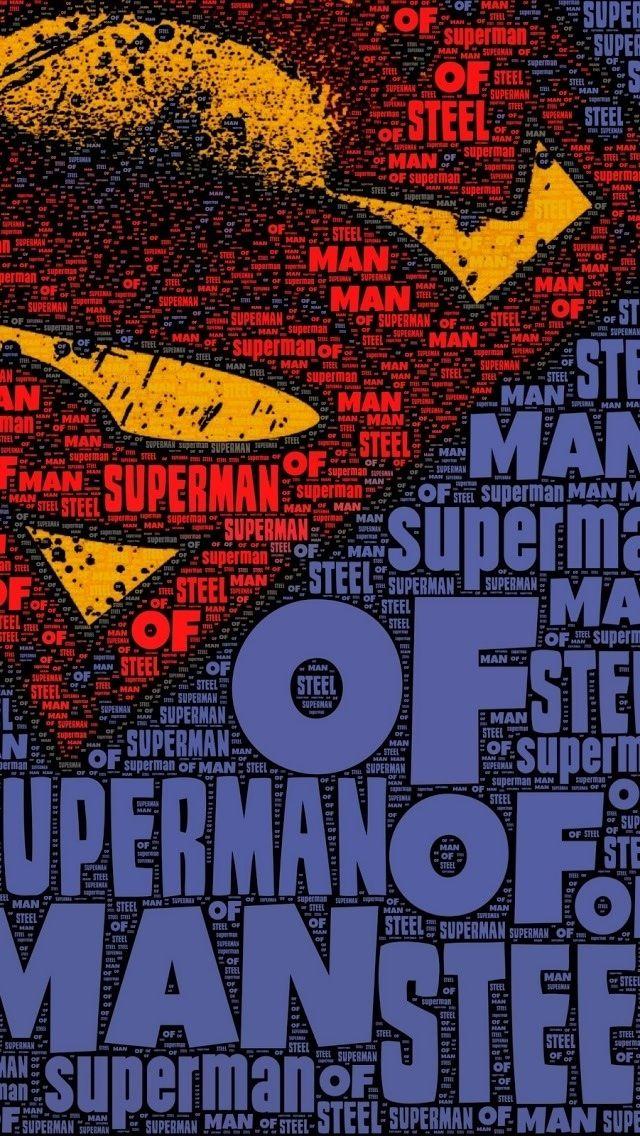 Superman iPhone 5 wallpaper Man of Steel Pinterest