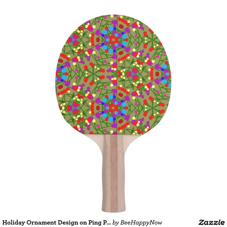 Holiday Ornament Design on Ping Pong Paddle