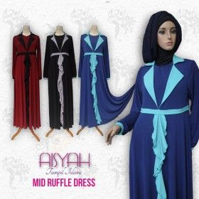 Busana Muslim - Mid Ruffle Dress