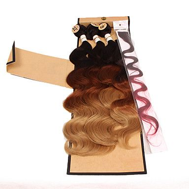 beautiful+color+synthetic+body+wave+brazilian+body+wave+3pieces+body+wave+1piece+clip+hair+1piece+closure+–+USD+$+24.70