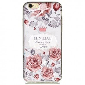 Husa Iphone 7 Plus, TPU, Model floral, Protectie spate si laterale, Ultraslim