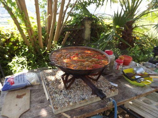 Paëlla traditionnelle aux fruits de mer - Recette de cuisine Marmiton : une recette