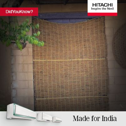 Did You Know?  In ancient India, wet grass mats were suspended over openings of the house that faced the wind. The mats could cool down the interior by as much as 30 degrees. #Fact #Cool #Summer