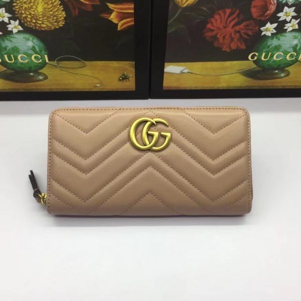 3217b4e23a9c Gucci 443123-7 GG Marmont zip around wallet | Gucci Wallet | Gucci ...