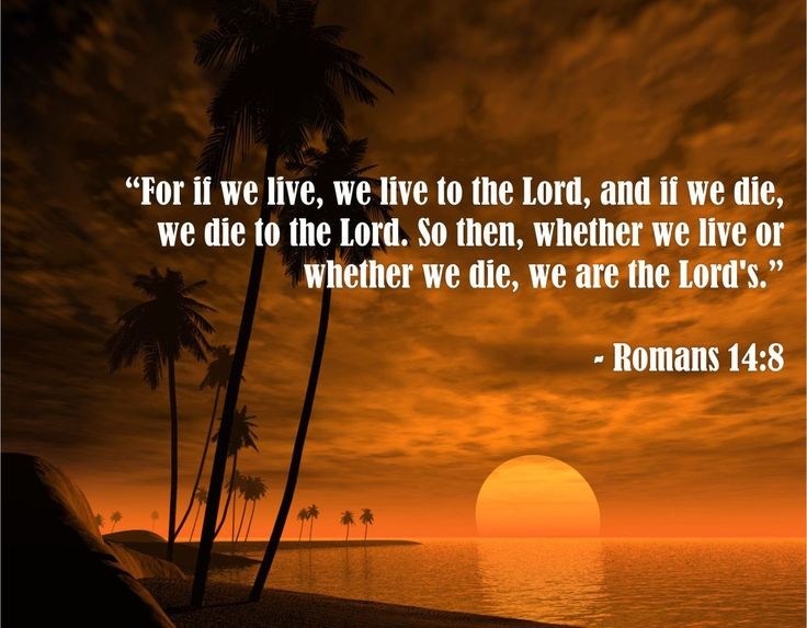 20 Inspirational Quotes On Life Death And Losing Someone: Bible Quotes About Death - Romans 14:8