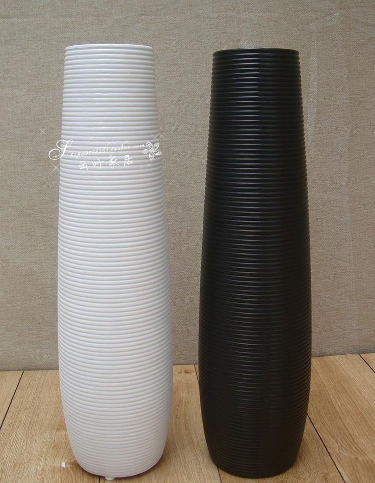 Aliexpress.com: Kup Matowy ceramiczny wazon czarny lub biały podłogowe wazony wazony na ślub dekoracja domu białe nowoczesne krótkie śruby powierzchni 60 cm wysokość m od zaufanego vase modern dostawcy na Lily Young's store