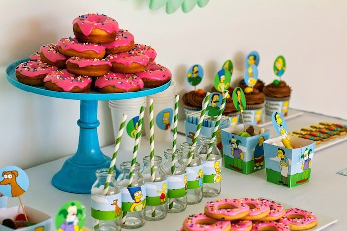 The Simpsons Themed Birthday Party {Ideas, Decor, Planning}
