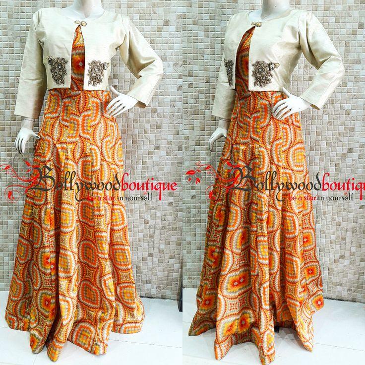 Simple & Unique Designer Dress With Short Jacket & Minimal Embroidery #Designer_Wear #Short_Jacket #Dresses #Party_Wear #Minimalism #BollywoodBoutique #Bollywood_Boutique #Bollywood_Boutique_Hoshiarpur